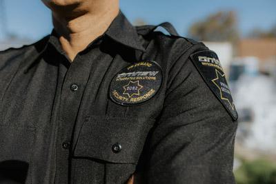 Uniformed security officer