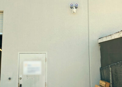 Surveillance camera and speakers