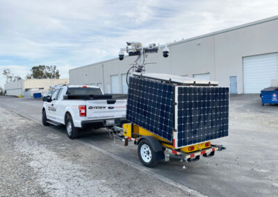 Solar security trailer deployment