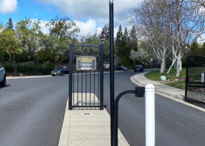 Surveillance camera at a gate entrance